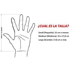 Esquema tamaño de las manos para el ratón ergonómico